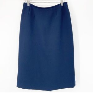 Kasper Navy Blue Midi Length Pencil Dress Skirt